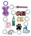 Promotional products: Custom shape sof-touch� vinyl key tags