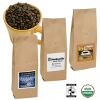 Promotional products: Organic fair trade certified coffee 8 oz.