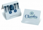 Promotional products: Matchbook tee pak - 3 1/4