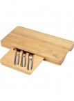 Promotional products: Hide-away Bamboo Cheese Board