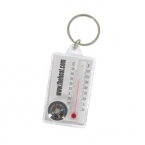 Promotional products: Acrylic thermometer & compass keyring
