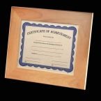 Promotional products: Millcroft Certificate Holder - Red Alder 8½x11