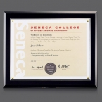 Promotional products: Walcourt Cert Holder - Black/PlexiGlass 8½