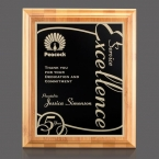 Promotional products: Bamboo/Marietta Plaque - Bamboo/Black 7