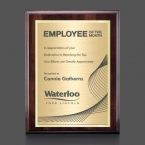 Promotional products: Farnsworth/TexEtch Plaque - Cherry/Gold 7