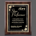 Promotional products: Farnsworth/Starburst Plaque - Cherry/Black 7