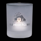 Promotional products: Evaton Frosted Candleholder - 2½