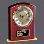 Promotional products: Keele Clock - Rosewood/Black/Gold 6½