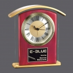 Promotional products: Illovo Clock - Rosewood/Clear/Gold 6½
