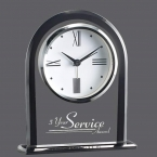 Promotional products: Whitby Clock - Black/Clear 6¼