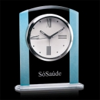 Promotional products: Broadland Clock - Clear/Blue 6¼