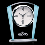 Promotional products: Delfino Clock - Clear/Blue 6¼