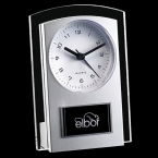 Promotional products: Mallory Clock - Black/Clear 5½