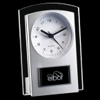 Promotional products: Mallory Clock - Silver/Clear 5½