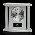 Promotional products: Cowles Clock - Silver 6¼