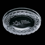 Promotional products: Cuthbert Coaster - Lead Crystal 4