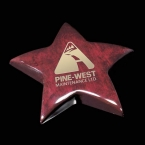 Promotional products: Elgin Star Paperweight - Rosewood