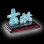 Promotional products: Frosted Inukshuk - Family of 3 on Albion