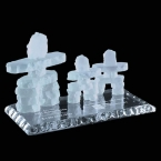 Promotional products: Frosted Inukshuk - Family of 3 on Jade