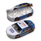 Promotional products: Race car mint tin