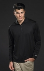 Promotional products: LONGSLEEVE STRETCH TECH POLO