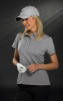 Promotional products: LADIES' SP TECH MINI STRIPE POLO