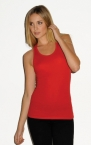 Promotional products: SHEER RIB RACEBACK TANK TOP