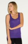 Promotional products: SHEER RIB LONGER LENGTH TANK TOP