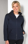 Promotional products: LADIES HOODED FULL ZIP
