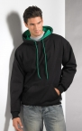 Promotional products: TWO TONE HOODED SWEATSHIRT