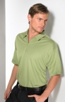 Promotional products: MOISTURE WICKING 1/4 ZIP POLO