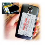 Promotional products: Cell Phone Back Pack- Clear