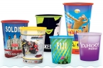 Promotional products: 9oz reusable clear plastic cups